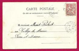 Écrit Postal Daté De 1902 - Voyagé à Destination De Meaux - Destinataire Robert Menot Dit Rob D'Ac - Marcophilie (Lettres)