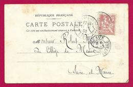 Écrit Postal Daté De 1903 - Voyagé à Destination De Meaux - Destinataire Robert Menot Dit Rob D'Ac - Marcophilie (Lettres)