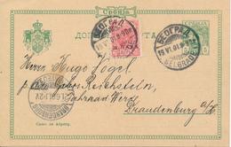 BELGRAD / SERBIEN  -  1901 ,  Ganzsache Nach Brandenburg - Ganzsachen