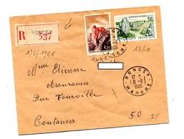 Lettre Recommandée Roncey Sur Joux Carnac - Postmark Collection (Covers)