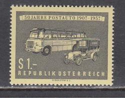 Austria 1957 - 50 Jahre Postauto, Mi-Nr. 1034, MNH** - 1945-.... 2nd Republic
