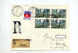 Lettre Recommandée Saint Martine Sur Moustiers - Postmark Collection (Covers)