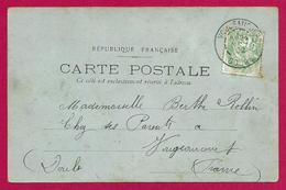 Écrit Postal Daté De 1902 - Voyagé à Destination De Voujeaucourt Dans Le Doubs - Destinataire Nommée Berthe Rollin - Marcophilie (Lettres)