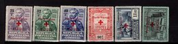 Portugal Portofreiheitsmarken Rotes Kreuz 29 - 34 MLH */** A 15 - Franquicia