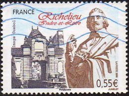 France Oblitération Moderne N° 4258 - Richelieu (Indre-et-Loire) Art, Sculpture - Oblitérés