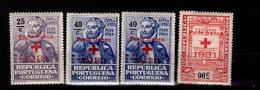 Portugal Portofreiheitsmarken Rotes Kreuz Ex 29 - 33 MLH */** A 17 - Portofreiheit