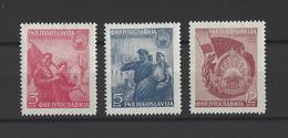 YOUGOSLAVIE.  YT  N° 517/519  Neuf *  1949 - Neufs