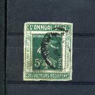 Semeuse 137 Sur  Porte Timbre L'ANNUAL N° 1024 Yvert (livret De L'expert 2010) - 1906-38 Semeuse Camée
