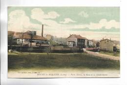 42 - ROCHE-la-MOLIERE ( Loire ) Puits Néron, La Gare Et La Gendarmerie. Carte Colorée - France