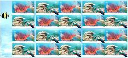 Carnet Coral Reefs / Récifs Coralliens 20 Timbres 2012 Non Plié ** - Booklets