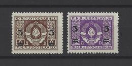 YOUGOSLAVIE.  YT  N° 543A/543B  Neuf *  1949 - Neufs