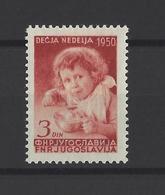 YOUGOSLAVIE.  YT  N° 548  Neuf *  1950 - Neufs