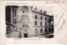 NEUILLY SUR SEINE INSTITUTION SAINT DOMINIQUE PENSIONNAT VUE PRISE DE LA COUR INTERIEURE PRECURSEUR 1903 TBE - Neuilly Sur Seine