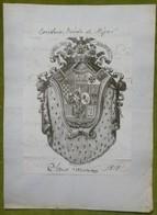 Ex-libris Ou Illustration Héraldique - ESPAGNE - Signé TONIO RAZON ? - 1818 - Ex-libris