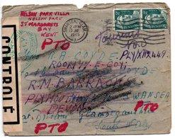 Enveloppe Pour Swansea - 1945 - Censurée - Marcofilia (sobres)