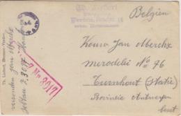 FOTOKAART MILITAIR KRIEGSGEFANGENENSENDUNG SOLDAAT Jan Merckx SOLTAU Z Nr 3017 / Verzonden Naar TURNHOUT BEZET, STEMPELS - Guerre 14-18