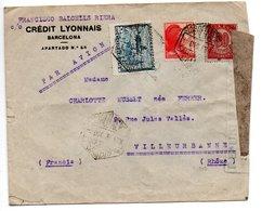 Enveloppe De Barcelone  - Pour Villeurbanne  -- Censurée - 1931-Oggi: 2. Rep. - ... Juan Carlos I