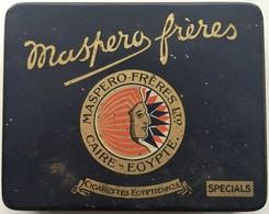 Boite Métal Cigarettes Maspero Frères Caire Egypte - Cajas Para Tabaco (vacios)