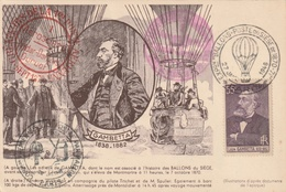 Carte Maximum - Exposition Ballons - Poste Paris 1946 - France