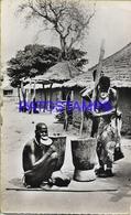 128640 AFRICA A.O.F COSTUMES NATIVE PLATFORM WOMEN MILLING MIL POSTAL POSTCARD - Libyen