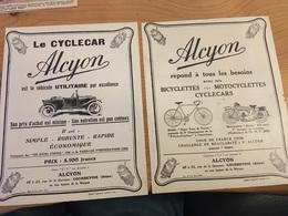 Pub - Publicité - Auto - Moto - Vélo - Alcyon - 1935 - - Pubblicitari