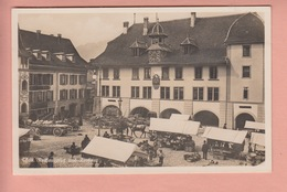 OLD POSTCARD - SWITZERLAND - SCHWEIZ -    THUN - MARKET PLACE - ANIMATED - BE Berne