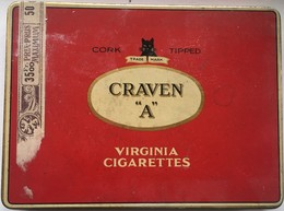 Boite Métal Cigarettes CRAVEN A Virginia Cigarettes - Cajas Para Tabaco (vacios)