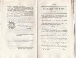 Bulletin Des Lois 757 De 1840 - Création Chaire Langue Et Littérature Slave Au Collège De France - Décrets & Lois