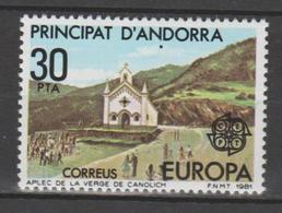 ANDORRA CORREO FRANCES SELLO CON UN PUNTO NEGRO DEBAJO DE LA N DE ANDORRA ( S.8.) - Andorra Española
