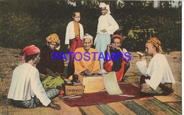 128641 AFRICA ITALY THE PONTIFICAL INSTITUTE OF FOREIGN MISSIONS COSTUMES NATIVE POSTAL POSTCARD - Libyen