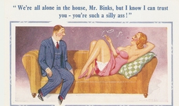 """Donald McGill. We're Alone I The House,Mr. Bonks.!""  D.Constance New Donald McGill Comic PC 1878 - Mc Gill, Donald"
