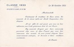 SOUSCRIPTION DRAPEAU  PONTARLIER CLASSE 1933 (dil440) - Documents