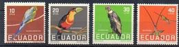 Ecuador 1958  MiNr. 956/ 959  **/ Mnh ; Vögel - Vögel