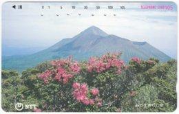 JAPAN K-754 Magnetic NTT [390-295] - Plant, Flower - Used - Japan