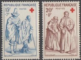 France 1957 N° 1140-1141 NMH Croix Rouge (F13) - Unused Stamps
