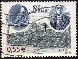 Oblitération Moderne Sur Timbre De France N° 4243 - Mémorial Charles De Gaulle - Oblitérés