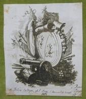 Ex-libris Héraldique, Annoté  - ESPAGNE - FELIX CALLEJA DEL REY - 1827 - Ex-libris