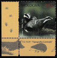 Moldavie. Moldova.  Blaireau; Badger - Otros