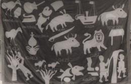 Afrique - Bénin - Palais Royal D'Abomey - Tapisserie Symboles Des Rois - Langue Idiomes - Animaux - Photo Roka - Benin