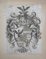 Lot De 4 Ex-libris Héraldique, Ou Illustration D'armoirie - ESPAGNE Et Autre Non Identifiés - Ex-libris