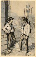 - PLOUGASTEL - Types Et Costumes (illustrateur Homualk)  -20739- - Plougastel-Daoulas
