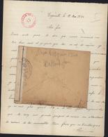 Guerre 39 Engenville 12 5 40 Censure Bande + Cachet Ouvert Par L'autorité Militaire UP 51 Paris Prisonniers Stalag VIIA - Postmark Collection (Covers)