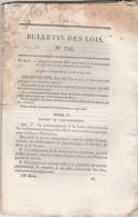 Bulletin Des Lois 756 De 1840 Gouvernement Etablissements Français En Inde - Sucres Indigènes - Décrets & Lois