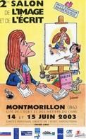 MONTMORILLON 2ème SALON Avec BARBEROUSSE >> CARTE PUBLICITAIRE - TRES BON ETAT - REF CP6-52B - Comicfiguren