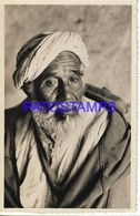 128653 AFRICA COSTUMES NATIVE OLD MAN ARAB POSTAL POSTCARD - Libyen