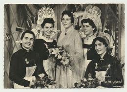 Concarneau- Photo La Reine Des Filets Bleus 1956 Et Ses Demoiselles D'honneur - Studio P. Le Grand - Concarneau