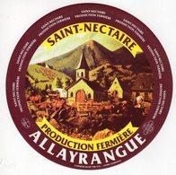 Jan20   63253 B   étiquette Saint Nectaire   Allayrangue - Cheese