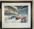** Géo HAM (signée) Les 24 HEURES Du Mans Course 1954 ** Original - 70 X 60 Cm - Lithographies
