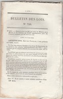 Bulletin Des Lois 759 De 1840 Régiment Artillerie, Infanterie De Marine - Décrets & Lois
