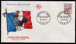 Coq - France - N° 1331A : Coq De Decaris - 0 F 30 F- Oblitération 1er Jour Paris 15 Janvier 1965 - Galline & Gallinaceo